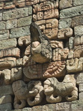 Stone Sculpture of Mayan God, Copan Archaeological Park, UNESCO World Heritage Site, Honduras Photographic Print