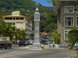 Victorian Clock Tower in the Capital Victoria, Mahe, Seychelles, Africa Photographic Print