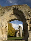 Ruins of Glastonbury Abbey, Glastonbury, Somerset, England, United Kingdom, Europe Photographic Print
