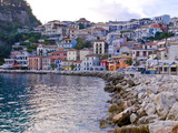 Harbor of Parga, Mainland Greece, Greece, Europe Photographic Print