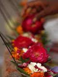 Diyas (Floral Floats With Incense), Rishikesh, Uttarakhand, India, Asia Photographic Print
