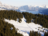 Saint Gervais Ski Slopes, Saint Gervais, Haute Savoie, French Alps, France, Europe Photographic Print