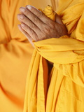 Praying Buddhist Monk, Thiais, Vale De Marne, France, Europe Photographic Print