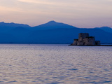 One of the Castles Guarding Nafplio at Sunset, Peloponnese, Greece, Europe Photographic Print