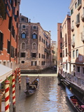 A Gondola on a Canal in Venice, UNESCO World Heritage Site, Veneto, Italy, Europe Photographic Print