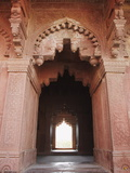 Doorway of Birbal Bhavan, Fatehpur Sikri, UNESCO World Heritage Site, Uttar Pradesh, India, Asia Photographic Print by Ian Trower