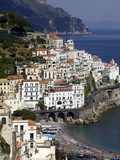 View of Amalfi From the Coast, Amalfi Coast, Campania, Italy, Europe Photographic Print by Olivier Goujon