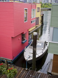Houseboats on Granville Island, Vancouver, British Columbia, Canada, North America Photographic Print by Richard Cummins