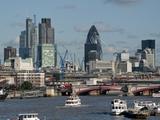 City Skyline With Heron Tower, London, England, Uk Photographic Print