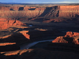 The Colorado River Makes a Huge S-Bend Under Deadhorse Point, Utah Photographic Print by David Pickford