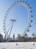 Millennium Wheel (London Eye) in Winter, London, England, United Kingdom, Europe Photographic Print
