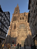 West Front of Notre-Dame Gothic Cathedral, From Rue Merciere, Strasbourg, Alsace, France, Europe Photographic Print