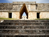 Governor's Palace in the Mayan Ruins of Uxmal, UNESCO World Heritage Site, Yucatan, Mexico Photographic Print by Balan Madhavan