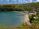 Coastal Village, Anse La Raye, St. Lucia, Windward Islands, West Indies, Caribbean, Central America Photographic Print