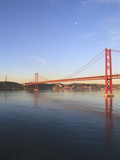 The 25Th April Bridge Over the Tagus River, Lisbon, Portugal, Europe Photographic Print