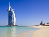 Burj Al Arab Hotel, Jumeirah Beach, Dubai, United Arab Emirates, Middle East Fotoprint van Amanda Hall