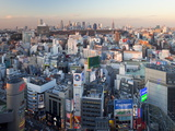 Elevated View of Shinjuku Skyline From Shibuya, Tokyo, Japan, Asia Photographie par Gavin Hellier