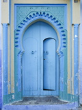 Blue Doorway, Chefchaouen, Morocco, North Africa, Africa Photographic Print