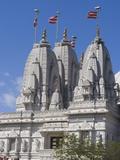Shri Swaminarayan Mandir, Hindu Temple in Neasden, London, England, United Kingdom, Europe Photographic Print