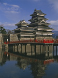 Matsumoto Castle and Moat, Nagano Ken, Japan, Asia Photographic Print