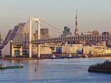 City Skyline Including the Rainbow Bridge and Tokyo Tower, Odaiba, Tokyo Bay, Tokyo, Honshu, Japan Photographic Print by Gavin Hellier