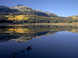 Lost Lake at Dawn in the Fall, Grand Mesa-Uncompahgre-Gunnison National Forest, Colorado, USA Photographic Print