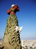 Close Up of Part of the Tower of the Sagrada Familia, Barcelona, Catalonia, Spain Photographic Print by Mark Mawson