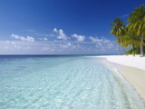 Tropical Island and Beach, Maldives, Indian Ocean, Asia Lmina fotogrfica por Sakis Papadopoulos
