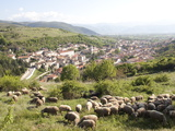 View of Pescina, Abruzzi, Italy, Europe Fotografisk tryk af Oliviero Olivieri