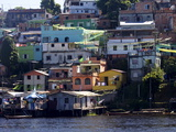 Some Favelas of Manaus on the Waterfront, Manaus, Brazil, South America Photographic Print by Olivier Goujon