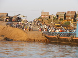 Mekong River Ferry in Phnom Penh, Cambodia, Indochina, Southeast Asia, Asia Photographic Print
