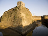 The Walls and Moat of the Fortress in the Former Portuguese Colony of Diu, India Photographic Print by Stuart Forster