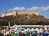 The 6Th Century Byzantine Fortress Overlooking Fishing Boats in the Harbour, Kelibia, Tunisia Photographic Print by Dallas & John Heaton