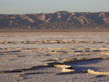 Chott El Jerid, Flat Dry Salt Lake between Tozeur & Kebili, Tunisia, Photographic Print