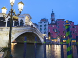 Rialto Bridge on the Grand Canal, Venice, UNESCO World Heritage Site, Veneto, Italy, Europe Photographic Print