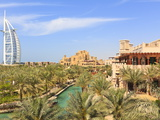Burj Al Arab and Madinat Jumeirah Hotels, Dubai, United Arab Emirates, Middle East Photographic Print