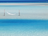 Hammock Hanging in Shallow Clear Water, Maldives, Indian Ocean, Asia Photographic Print by Sakis Papadopoulos