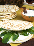 Piadina Flat Bread With Rucola and Stracchino Cheese, Typical Emilia Romagna Food Photographic Print