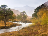 Autumn View Along Torridon River and Glen Torridon, Wester Ross, Highlands, Scotland, Uk Photographic Print by Lee Frost