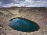 Kerid Explosion Crater With Lake of Green Water, Near Reykjavik, Iceland, Polar Regions Photographic Print by Lee Frost