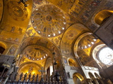 Gold Mosaics on the Dome Vaults of St. Mark's Basilica in Venice, Veneto, Italy, Europe Photographic Print by Carlo Morucchio