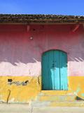Colorful Colonial Architecture, Granada, Nicaragua, Central America Fotodruck
