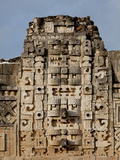 Closeup View of the Nunnery Quadrangle, Uxmal, UNESCO World Heritage Site, Yucatan, Mexico Photographic Print by Balan Madhavan