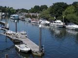 The Boat Marina on the Thames at Teddington, Near Richmond, Surrey, England, Uk Photographic Print