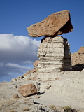 Balanced Rock in Plaza Blanca Badlands (The Sierra Negra Badlands), New Mexico, USA Photographic Print by James Hager