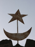Muslim Symbols, Bamako, Mali, West Africa, Africa Fotografisk tryk