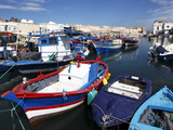 Fishing Boats in Old Port Canal, Bizerte, Tunisia, North Africa, Africa Stampa fotografica di Dallas & John Heaton