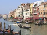 Gondolas on the Grand Canal, Venice, UNESCO World Heritage Site, Veneto, Italy, Europe Photographic Print by Amanda Hall