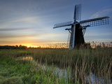 Sunrise at Herringfleet, Suffolk, England, Uk Photographic Print by David Wogan