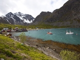 The Small Harbour of Koppangen at Lyngen Peninsula, Troms County, Norway, Scandinavia, Europe Photographic Print by Carlo Morucchio